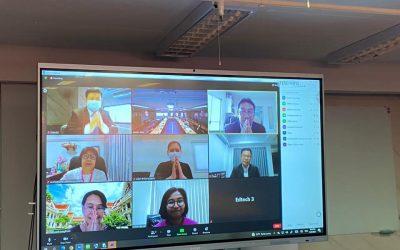 วันอังคารที่ 29 มิถุนายน 2564 สำนักงานเลขานุการกองทุนพัฒนาเทคโนโลยีเพื่อการศึกษา จัดการประชุมคณะอนุกรรมการกองทุนพัฒนาเทคโนโลยีเพื่อการศึกษา ด้านการพัฒนาแผนงานวิชาการ ยุทธศาสตร์ และการจัดสรรเงินกองทุนครั้งที่โดยผ่านวิดีโอคอลในแอปพลิเคชัน Zoom ในวันอังคารที่ 29 มิถุนายน 2564 ระหว่างเวลา 13.30 – 16.30 น. ณ ห้องประชุมศูนย์เทคโนโลยีสารสนเทศและการสื่อสาร สป. ชั้น 4 อาคารรัชมังคลาภิเษก กระทรวงศึกษาธิการ